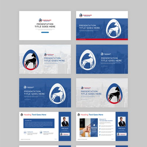 Professional, Modern, Crisp Presentation Slide Template for Investment Firm