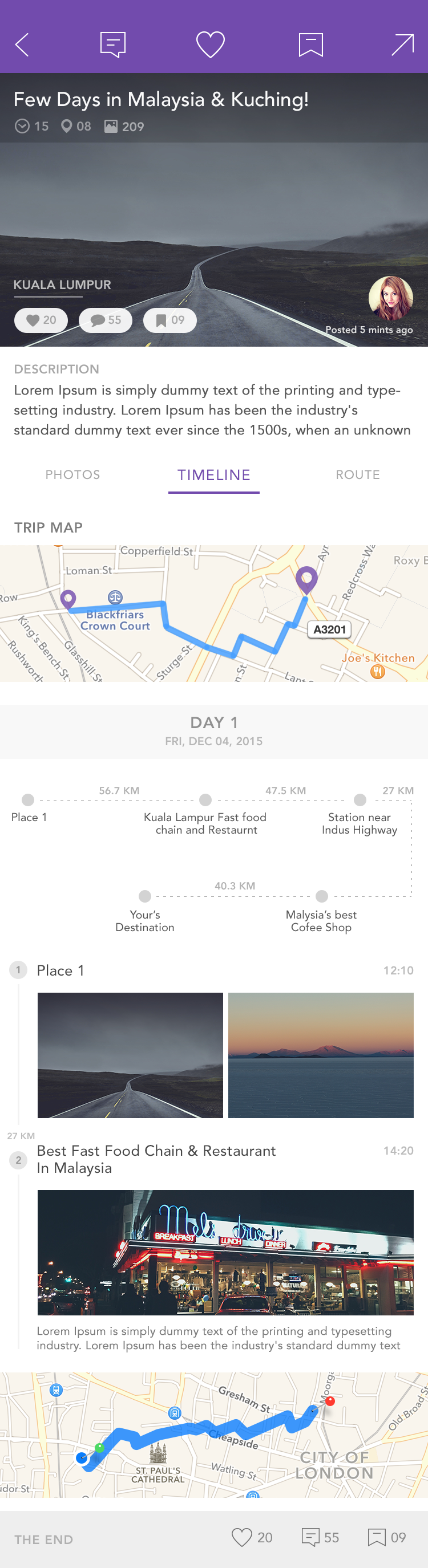 Create a highly visual (route & photo based) travel journal app for iOS devices