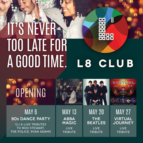 Bold, Colorful Nightclub Flyer