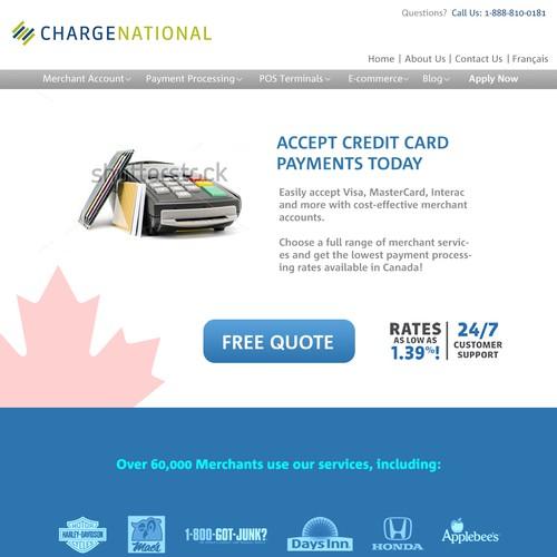 Finacial product landing page - Improve actual design