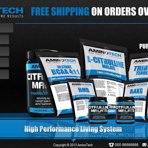 DESIGN NEW HOMEPAGE FOR AMINOTECH SPORTS SUPPLEMENTS!