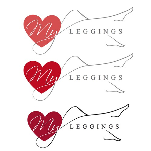 logo concept for leggings brand