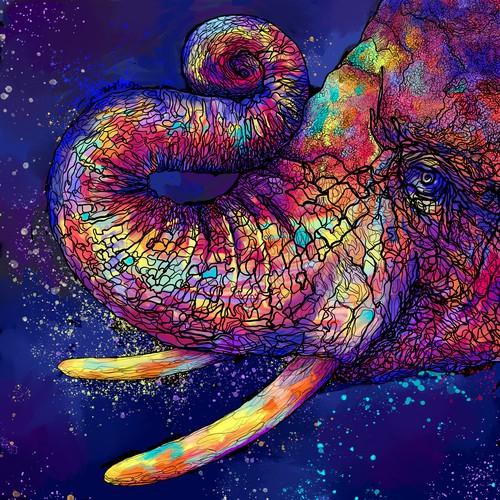 baby elephant illustration