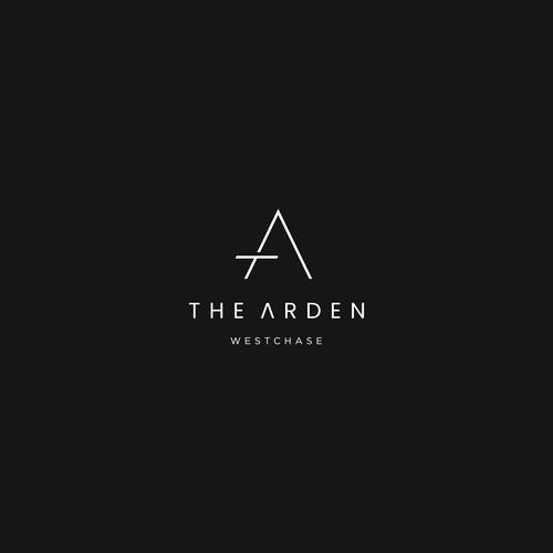 Simple Lettermark TA logo concept for The Arden.