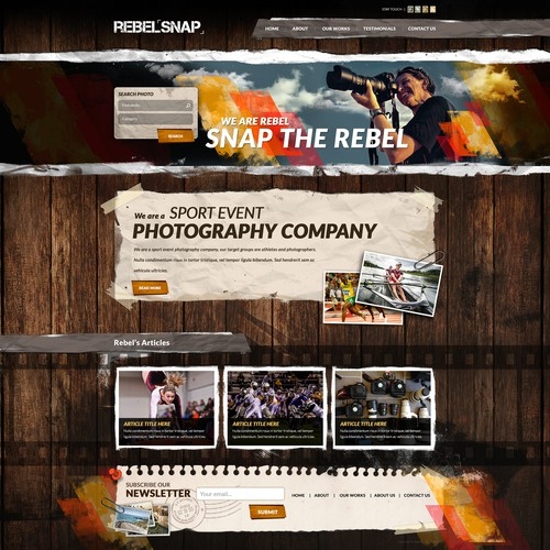 Grungy Website For Rebel Snap