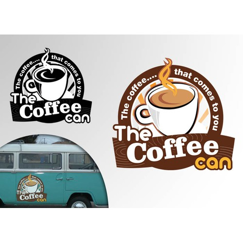"VW Bus coffee shop needs logo ""The Coffee Can"""