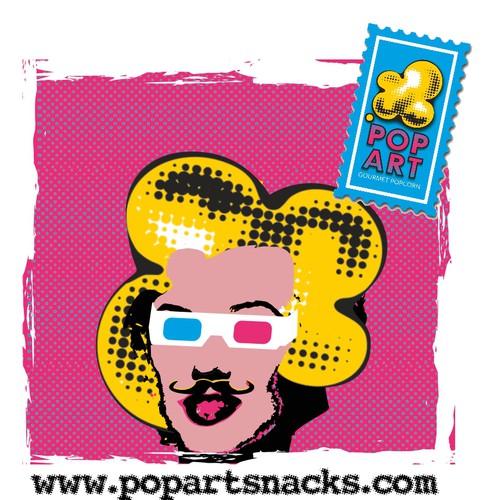 Design t-shirt for hip new Popcorn company called Pop Art