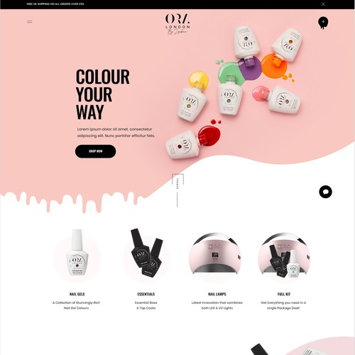 Bold & fun Shopify website
