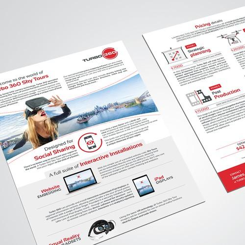 Modern flyer design for Turbo360 - Sky Tours