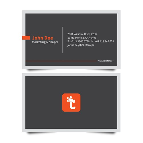 Business Card Design for Ticketera