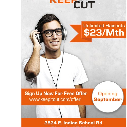 postcard or flyer for Keep It Cut