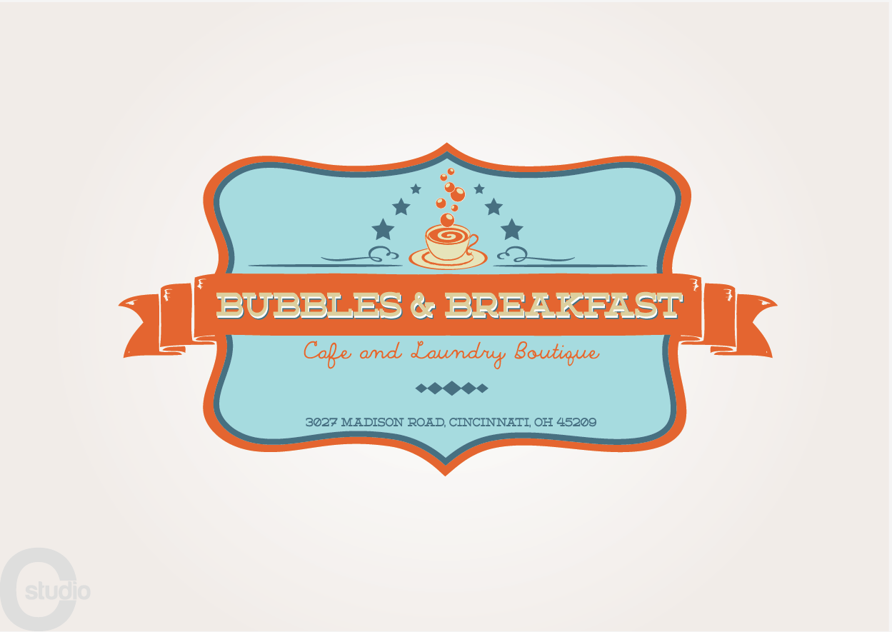 Help Bubbles & Breakfast Cafe and Laundry Boutique with a new logo