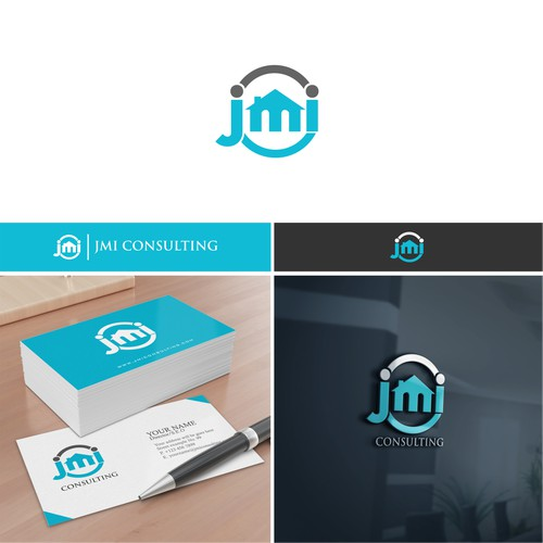 a sleek and professional business logo for JMI Consulting, LLC