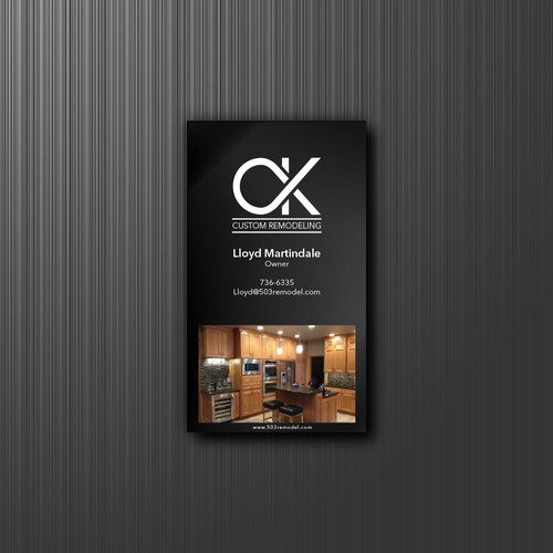 business card for C&K Custom Remodeling