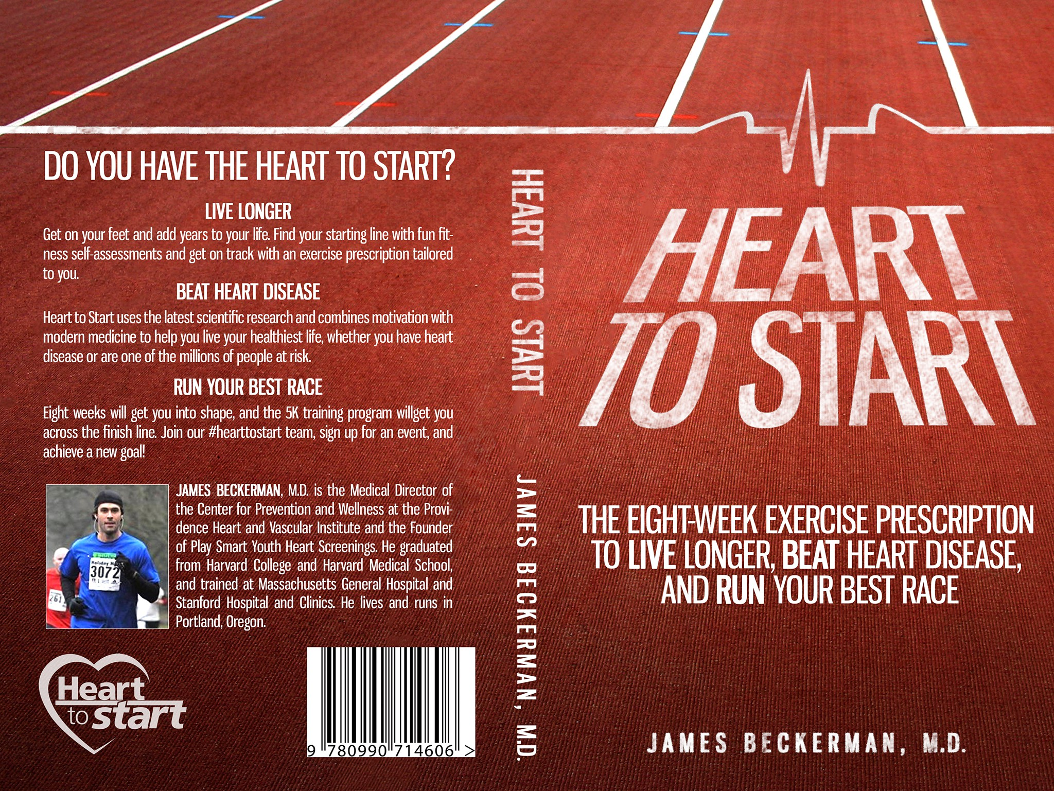 Create an inspiring cover for an exercise book for people with heart disease