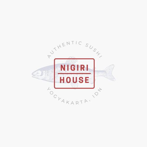 Concept logo for Nigiri Sushi House