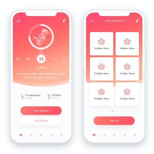 Pregnancy app design