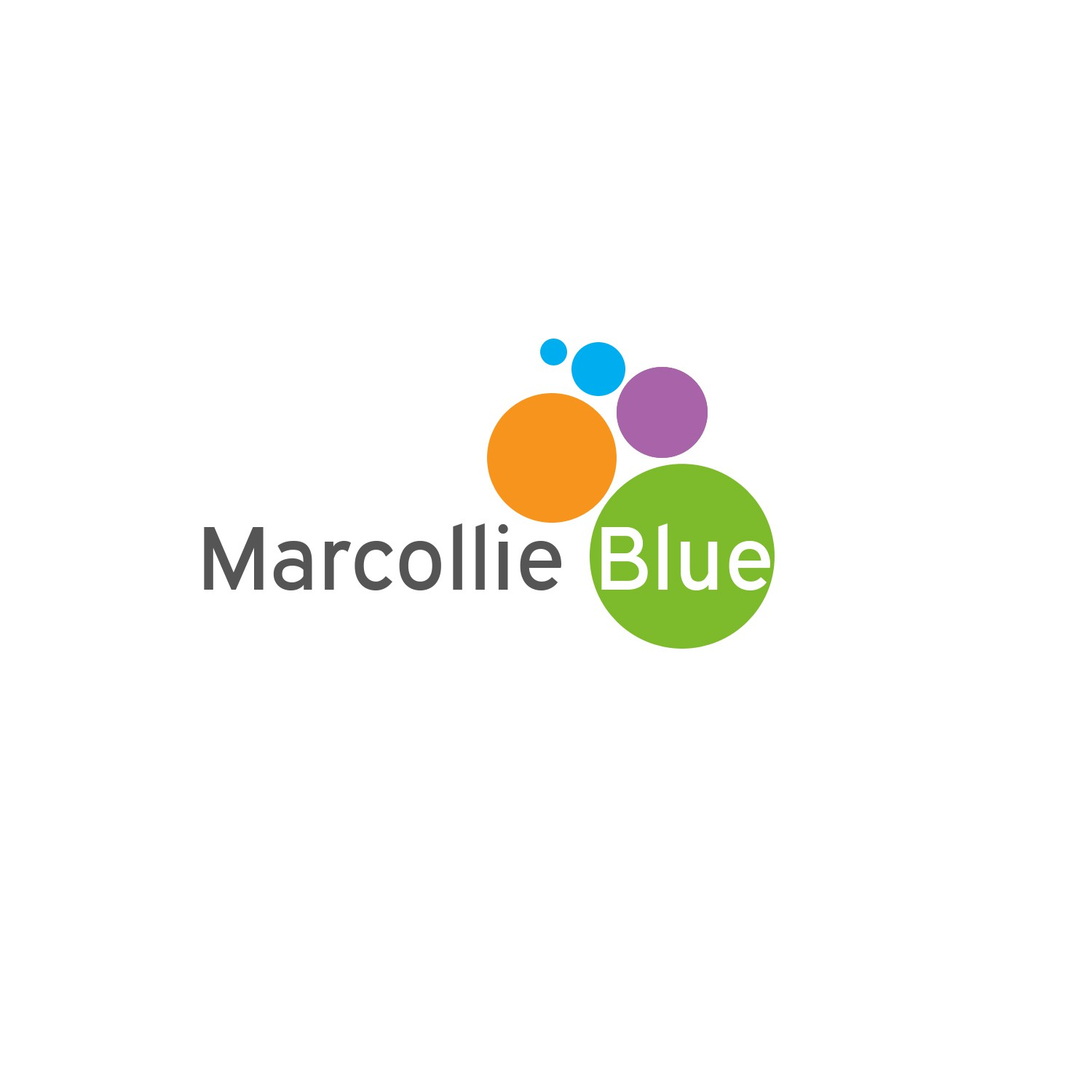 Create a new logo and business card for Marcollie Blue