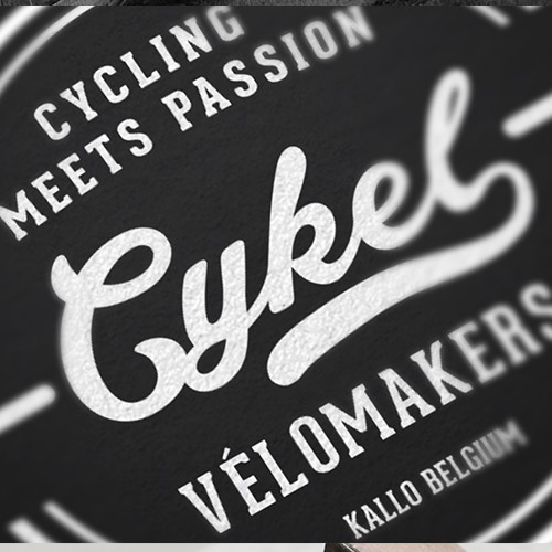 Create a retro, catchy branding style for a bike shop.