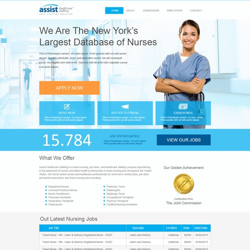 web page for nurses
