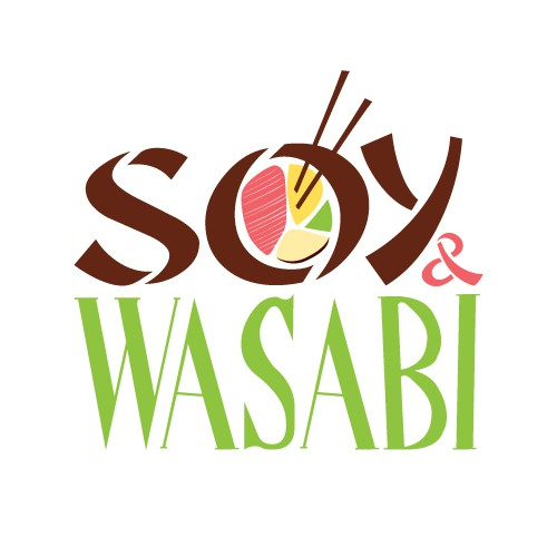 Help Soy + Wasabi  OR Soy & Wasabi with a new logo