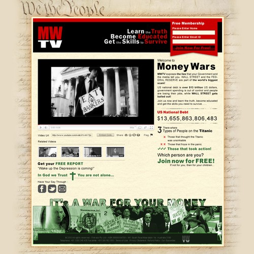 Web Design For Money Wars