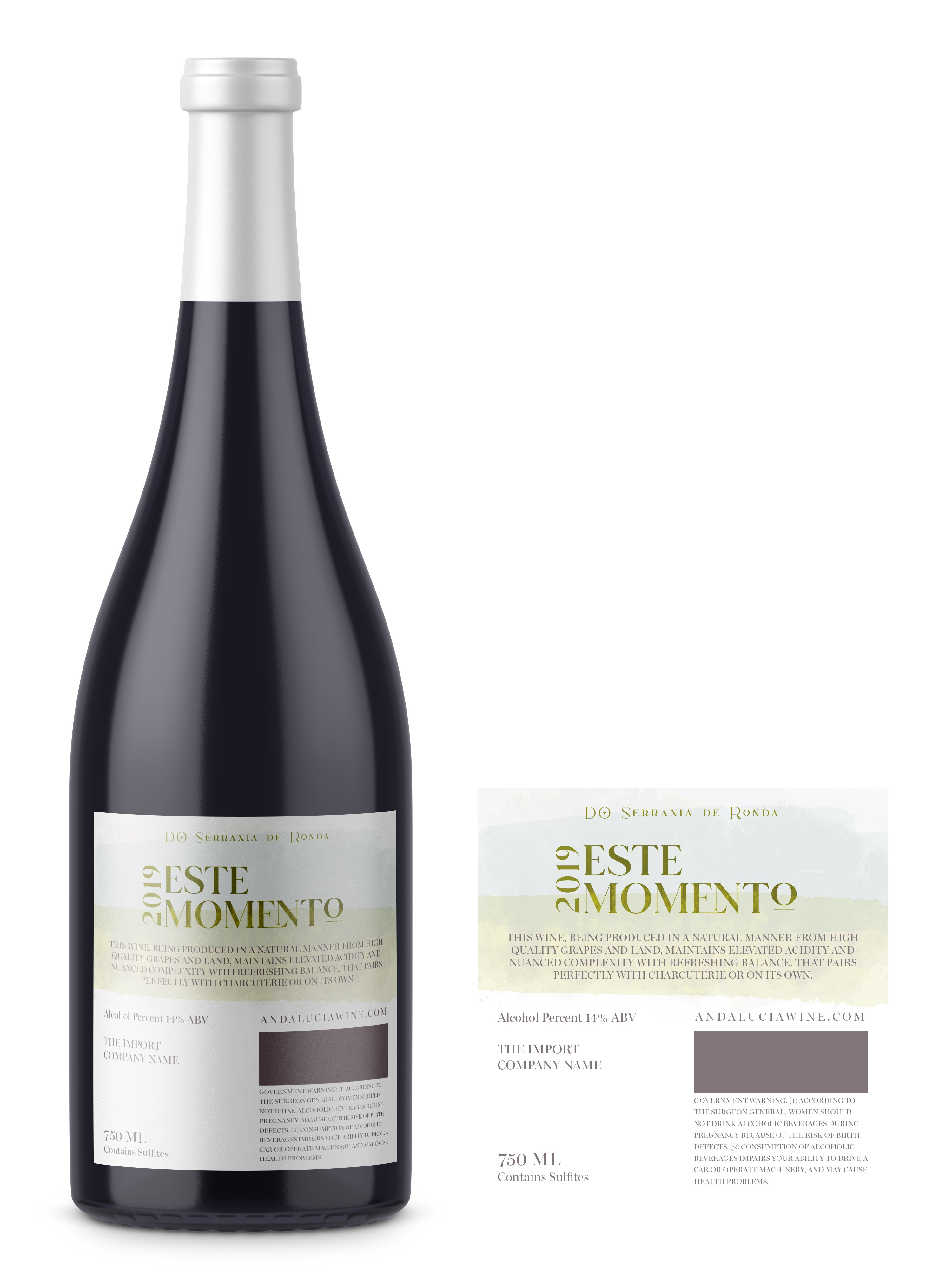 Label Design for a Top Natural Wine of Southern Spain