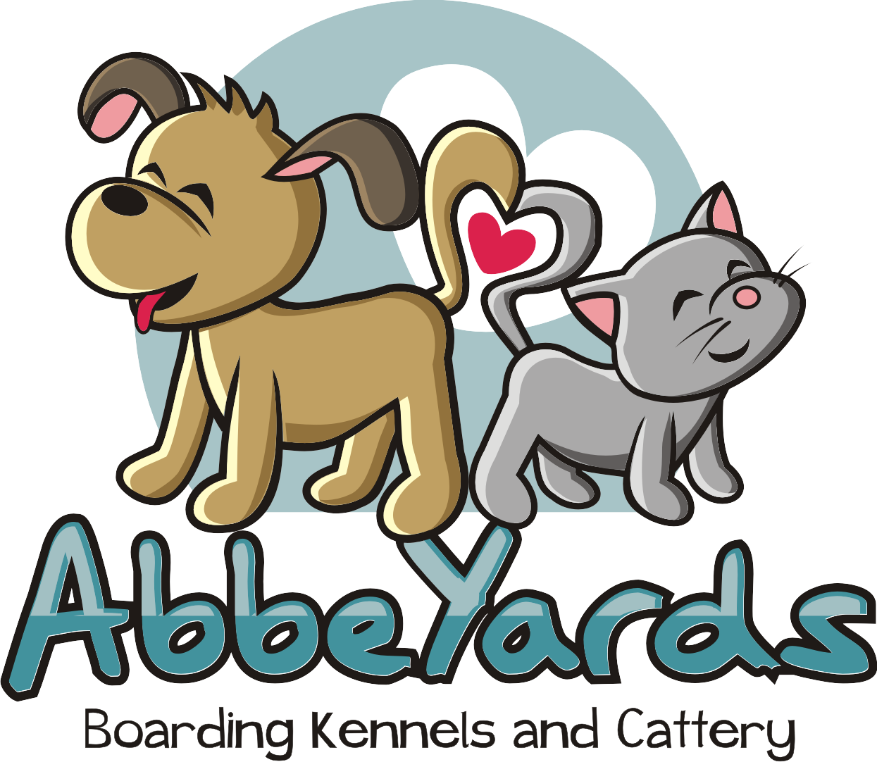 Create a Dog and Cat Logo for Abbeyards Boarding Kennels and Cattery