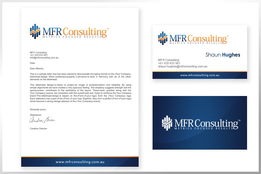 New logo and business card wanted for MFR Consulting