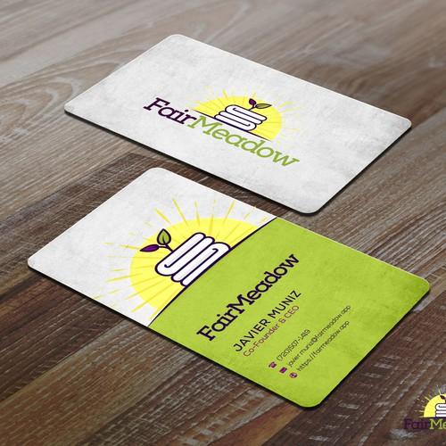 Fair Meadow Businesscard design