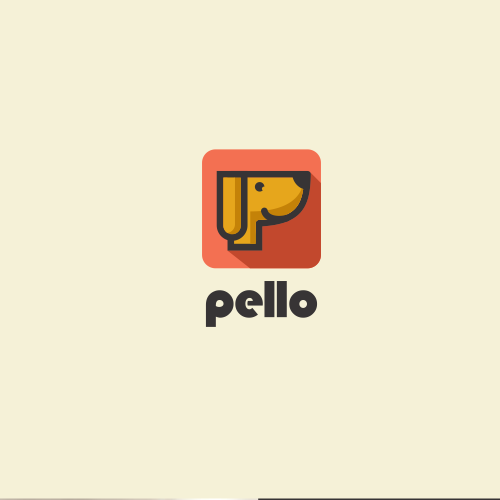 This logo is for a pet/animal related mobile app.