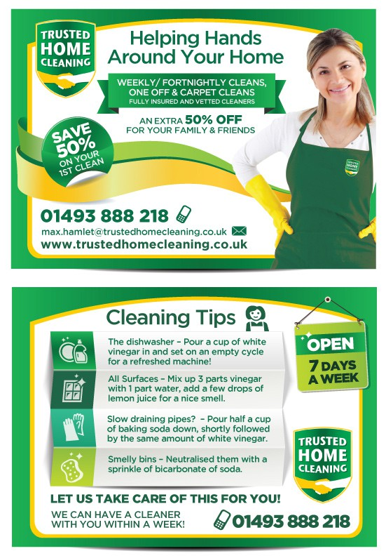 Help Trusted Home Cleaning with a new postcard or flyer