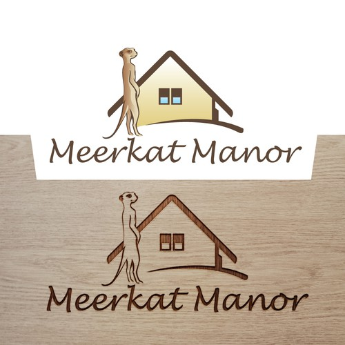 Simple logo for my house with Meerkats