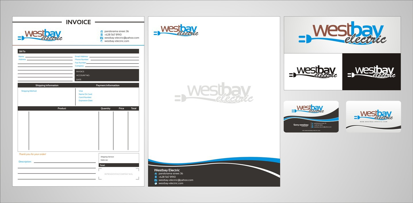 Help West Bay Electric with a new stationery