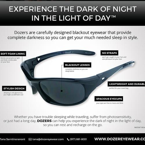Flyer design for Dozer eyewear