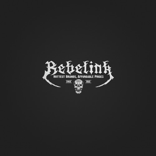 Create a fun, edgy logo for tattoo and motocross inspired Australianbusiness. Target age 18-35's- RebelInk.