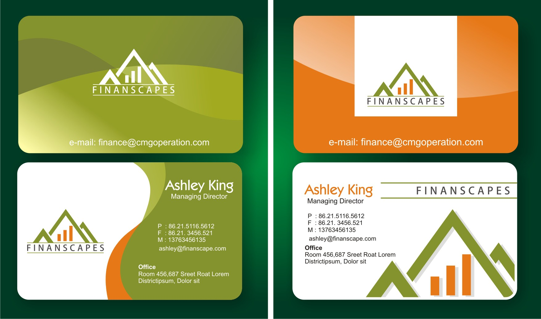 Logo and Business Card Design for Finanscapes
