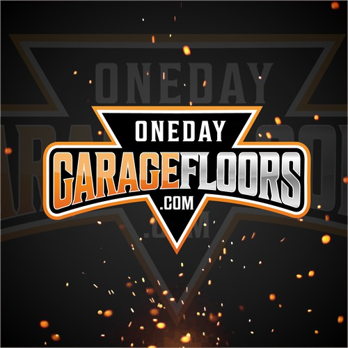 One day garage floors logo