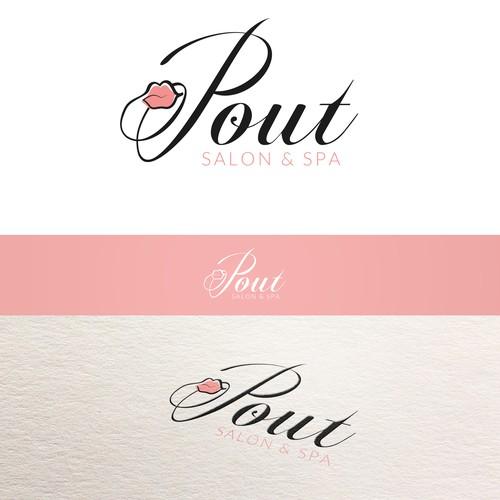 "Create a logo/brand image for ""Pout""; a new Salon & Spa set to take over Dubai!"