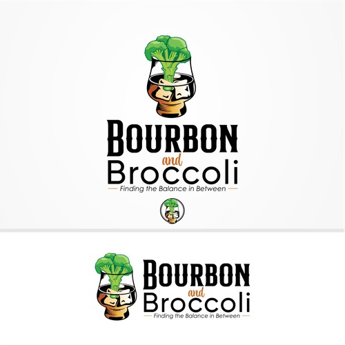 Fun and sophisticated Bourbon and Broccoli logos for podcast launches
