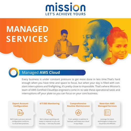 Info-graphics for Mission's Managed Services