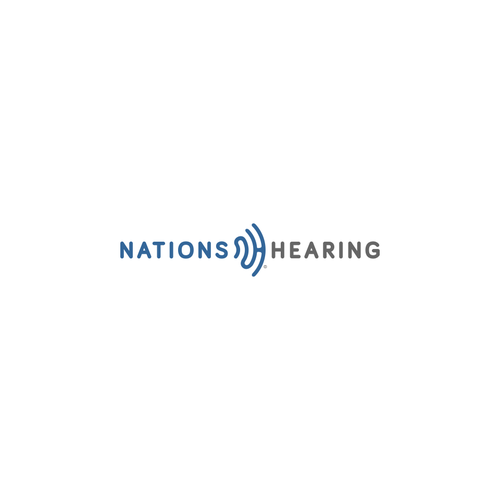 Captivating and trusting logo for NationsHearing