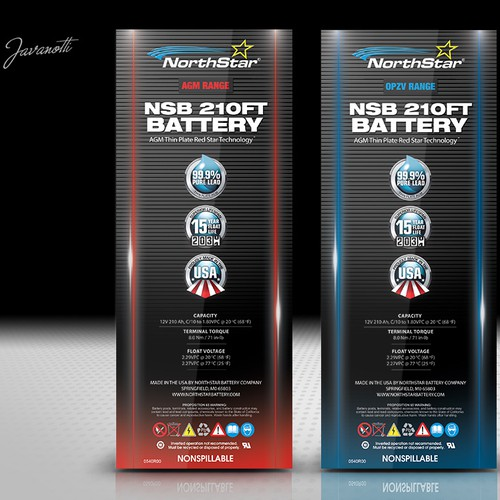 Give NorthStar Battery labels a modern makeover