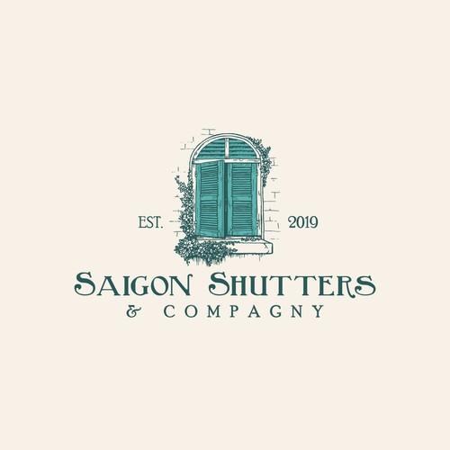 Hand-made logo for Saigon Shutters