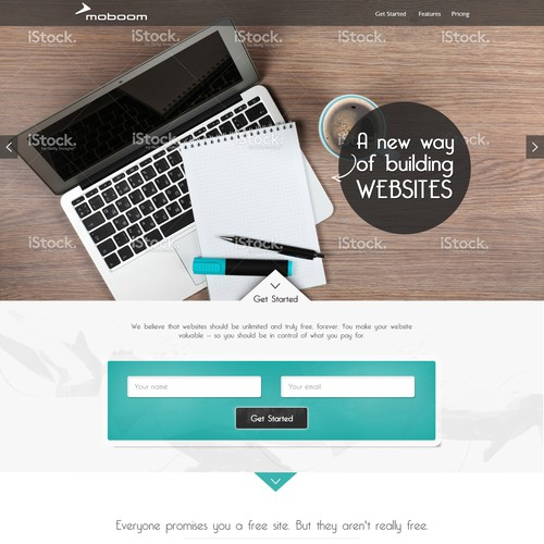 Create a compelling website for a new Moboom product