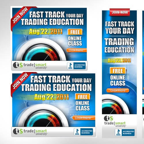 TradeSmart University needs a new banner ad