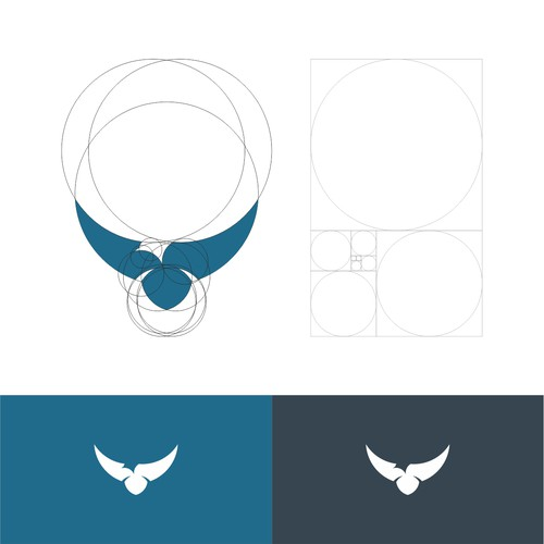 Bird logo Created using Golden Ratio