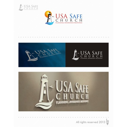 USA Safe Church logo design