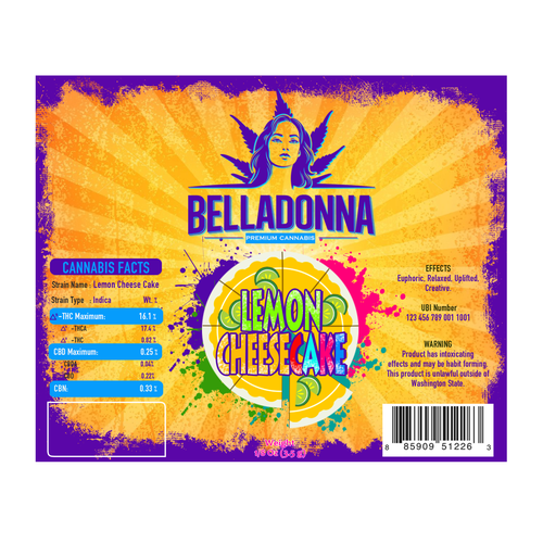 Label Design for Belladonna Cannabis