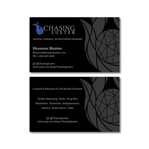Chasing Luster Business Card